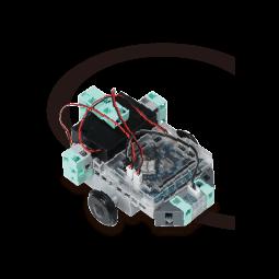 センサーやモーターを使って自動車を制御します。